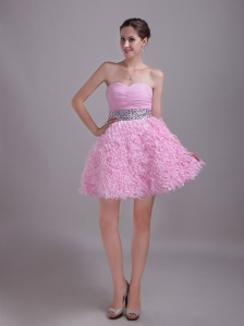 Baby Pink Holiday Homecoming Dresses A-Line Princess