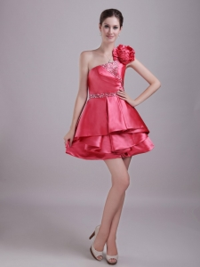 Red A-Line Princess Holiday Graduation Dresses