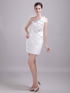 White Prom Holiday Dresses Column Sheath Chiffon