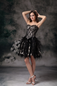 Black Ball Gown Special Fabric Little Black/Homecoming Dresses