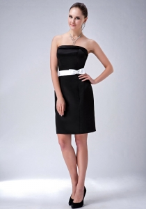 Black Column Little Black Holiday Dresses Satin