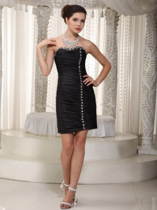 Little Black/Homecoming Dress Sweetheart Mini Taffeta Beading