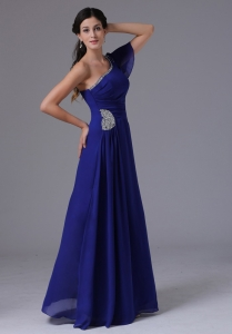 Royal Blue 2013 Beading Ruch Maxi Pageant Dresses