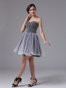Sweetheart Little Black/Cocktail Dresses Beaded Organza