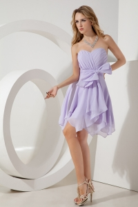 Lilac Graduation Homecoming Dress Empire Sweetheart Chiffon