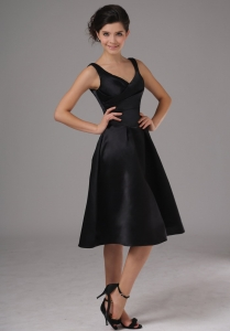 Little Black/Cocktail Dresses With Straps Knee-length