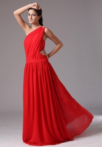 Simple Red Floor-length Maxi/Pageant Dresses