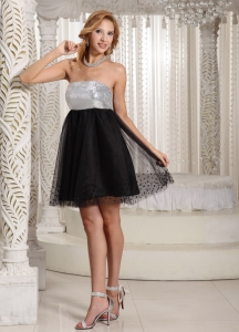 Special Little Black Cocktail Dresses Fabric Sequins