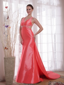 Waltermelon Pageant Dresses Beading Elastic Woven Satin