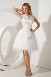 White Prom Homecoming Dress A-line Princess Scoop