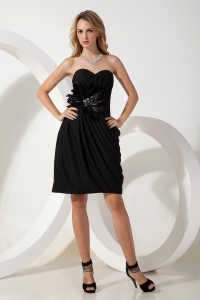 Chiffon Little Black/Homecoming Dress Sweetheart Mini-length