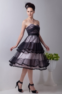 Little Black/Holiday Dress Sweetheart Tulle Hand Made Flowers