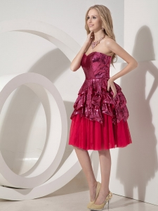 Chiffon and Sequin Nightclub/Homecoming Dress Red Sweetheart