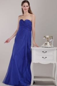 Royal Blue Chiffon Maxi/Celebrity Dress Empire Sweetheart Ruch