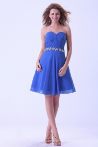 Royal Blue Prom / Homecoming Dress Sweetheart Knee-length