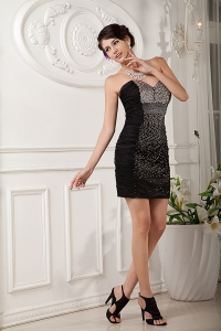 Mini-length Little Black/Homecoming Dress Sweetheart Beading