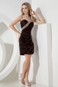 Chocolate Brown Sheath Sweetheart Mini-length Dress for Nightclub