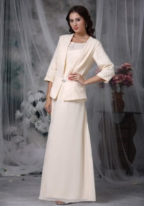 Champagne Mother Of The Bride Dress Scoop Floor-length