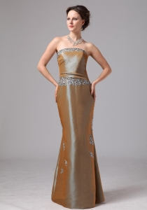 Olive Green Appliques Mermaid Mother Of The Bride Dress