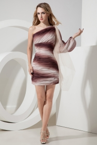 Ombre Color Nightclub/Homecoming Dress One Shoulder
