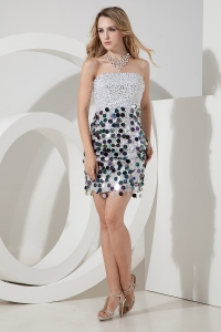 Silver Sequins Nightclub/Homecoming Dress Colorful Paillette