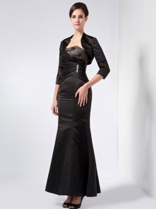 Strapless Ankle-length Taffeta Beading and Lace Mother Dress