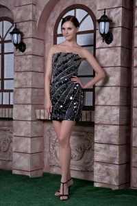 Sequins and Beading Strapless Mini-length Nightclub/Cocktail Dress