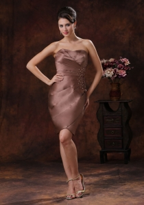 Mother Of The Bride Dress with Beaded and Ruched Decorate