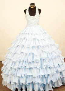 Brand New Ruffled Halter 2013 Little Girl Pageant Dress