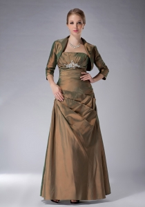 Olive Green Ankle-length Mother Of The Bride Dresses Appliques