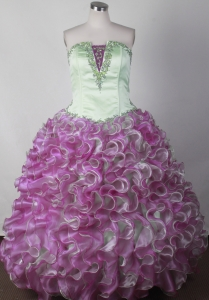 Colorful Little Girl Pageant Dresses With Ruffles Appliques