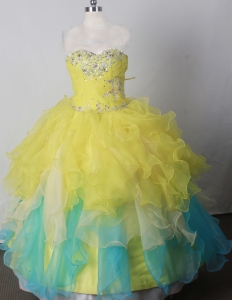2013 Little Girls Pageant Dresses Beading Sweethearat