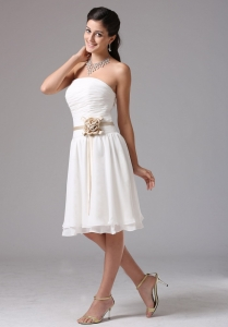 Empire Strapless Bridesmaid Dresses Sash Ruched Bust