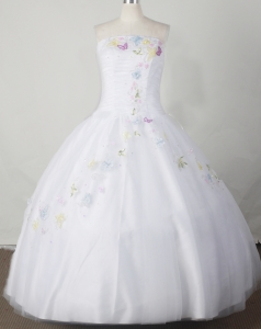 Romantic White sssLittle Girl Pageant Dress Embroidery Beading