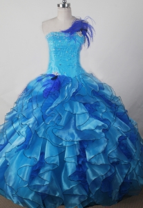 Beading and Ruffles Little Girl Pageant Gown Dress Strapless