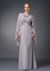 Elegant Mothers Dresses Grey Straps for 2013