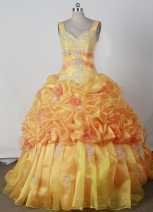 Appliques Beading Little Girl Pageant Dress Ball Gown