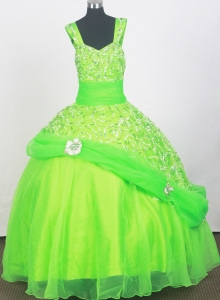 Spring Dreen Pageant Dresses for Little Girls Beading