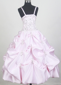 Beaded Pick-ups Baby Pink Little Girl Pageant Dresses