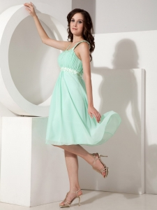 Empire Straps Knee-length Beading Bridesmaid Dresses