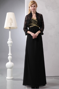 Sequins Black Sweetheart Mother of the Bride Dress Jacket
