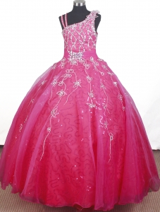 Embroidery Beading Strap Floor-length Girl Pageant Dresses