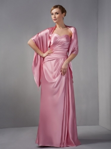Pink Mother Of The Bride Dress Sweetheart Taffeta Ruch