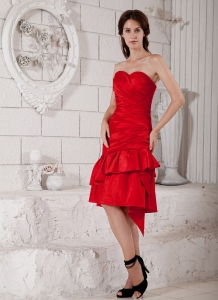 Sweetheart Knee-length Ruch Dress for Mother of the Bride