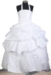 Halter Top Ball Gown Little Girl Pageant Dress Beading