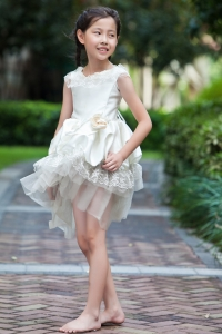 Hand Made Flowers Appliques Flower Girl Dresses