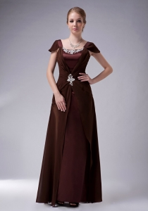 Brown Mothers Dresses for Weddings Beaidng Chiffon