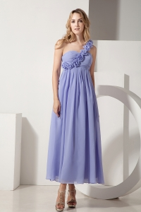 Bridesmaid dresses Lilac One Shoulder Ankle-length