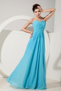Aqua Blue Bridesmaid dresses Empire Sweetheart