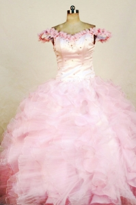 Beading Little Girl Pageant Dresses Luxurious Organza